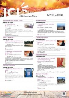 Manifestations de Novembre Gréoux-les-Bains