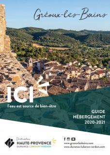 Guide hébergement de Gréoux-les-Bains 2020