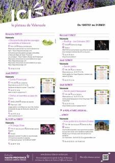 L'agenda du plateau de Valensole