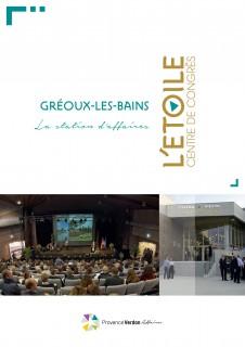 Brochure du centre des Congrès de Gréoux-les-Bains