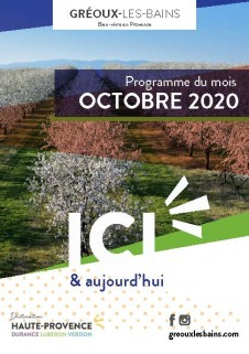 Programme des manifestations d'Octobre