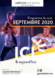 Programme des manifestations de Septembre
