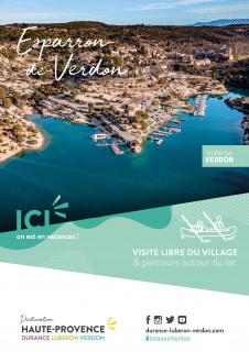Visite libre du village et tour du lac de Esparron de Verdon