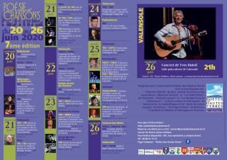 Affiche Festival poésie et chansons