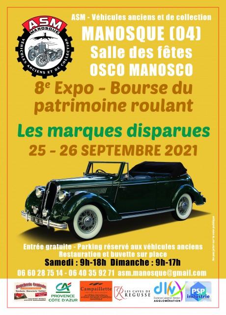 8ème exposition - bourse du patrimoine roulant