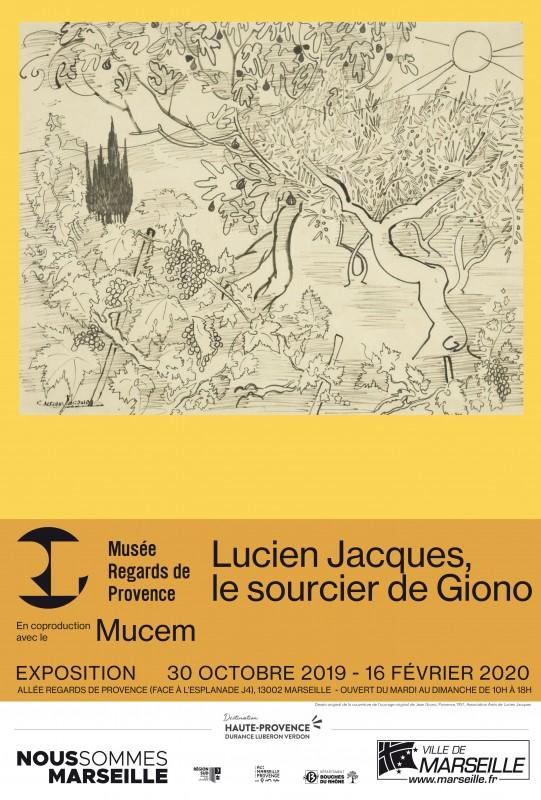 Affiche expostion : Lucien Jacques, le sourcier de Giono