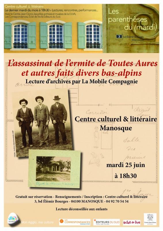 Lecture d'archives par La Mobile Compagnie